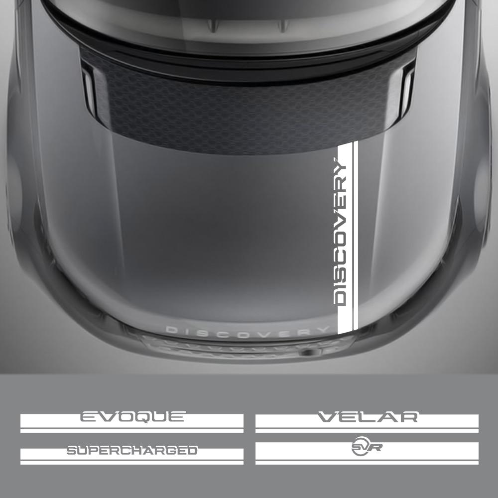Pegatina de capó de coche para Land Rover Discovery 3, 4, 2, Freelander, Evoque, Velar, autogigrafía superalimentada, SVR, accesorios