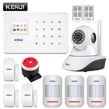 Kerui G18 ホームセキュリティ警報システム 80dB Alarme メゾンサンフィルフランセ GSM 盗難警報スーツアプリ制御 Alarme レジデンシャル