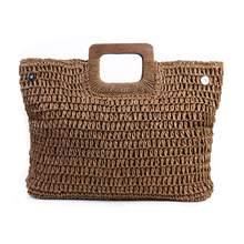Vintage Bohemian Stroh Tasche für Frauen 2020 Sommer Große Kapazität Strand Handtaschen Rattan Handgemachte Kintted Reisetaschen Bolsas Mujer