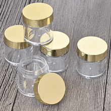 20/50/100pcs Cosmetics Transparent Box Jars (10g) Makeup Nail Art Refillable Cosmetic Bottles Travel Portable Glitter Cream Jars