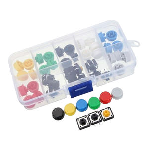 53pcs Momentary Tactile Tact Push Button Switch and Round Key Caps
