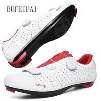 Ultralight Self-Locking Pro 남성용 자전거 신발 도로 자전거 트라이 애슬론 신발 자전거 자물쇠 운동화 Zapatillas Ciclismo White