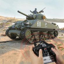 Heng Long 3898-1 2.4Ghz RC Car 1:16 US Sherman M4A3 Upgraded Crawler Remote Controlled Military Tank Vehicle Models Toys for Kid(China)