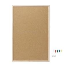 30x40 см пробковая доска для рисования сосновая деревянная рамка белые доски для дома офиса декоративная Прямая поставка