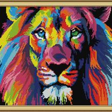 Cross-Stitch-Kit Aida 14ct Embroidery Diy Canvas Handmade Count-Print Coloured TOP 11ct