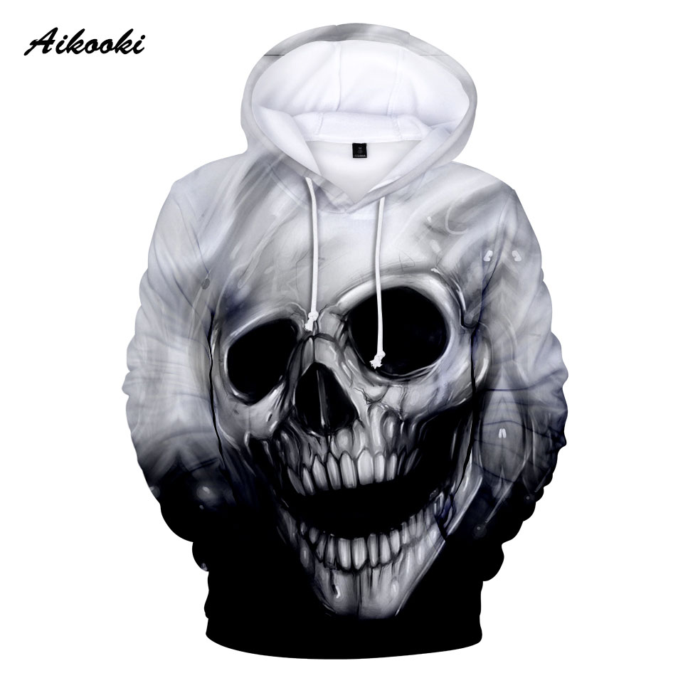 2019 Hot Sale Hoodies Skull Men/Women 3D Print Graphic Skeleton Skull 3D Boy/Girl Long Sleeve Autumn Winter Cool Fashion Tops