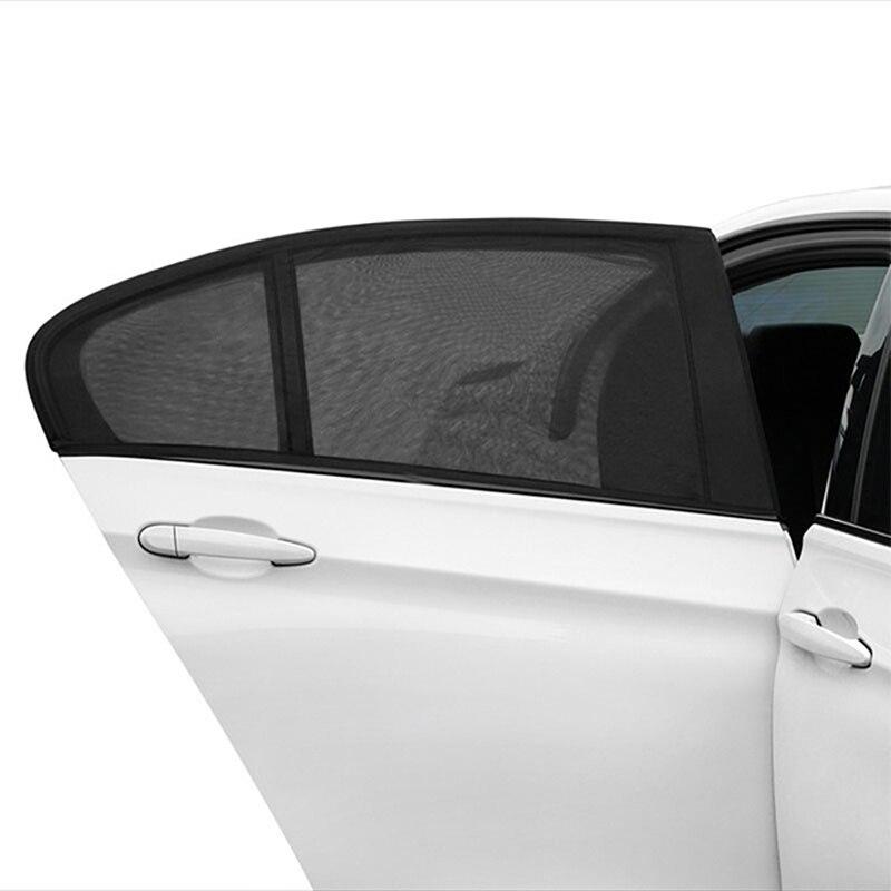 2pcs Car Styling Accessories Sun Shade Auto UV Protect Curtain Side Window Sunshade Mesh Sun Visor Protection Window Films 1