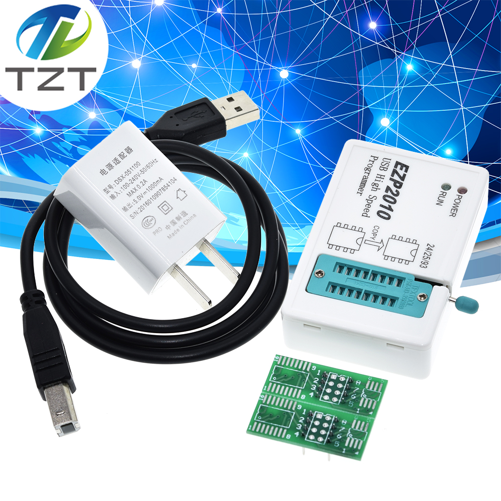 Tzt quente ezp2010 alta velocidade usb spi programador support24 25 93 eeprom 25 flash bios chip