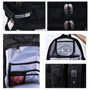 Image 5 - Magic union mochila de viagem para homens, mochila masculina de viagem impermeável feita em poliéster à prova de furtos com espaço para laptop