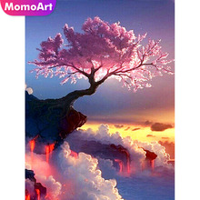 MomoArt Diamond Embroidery Tree Mosaic Landscape Diy Painting Full Drill Square Rhinestone Wall Decoration