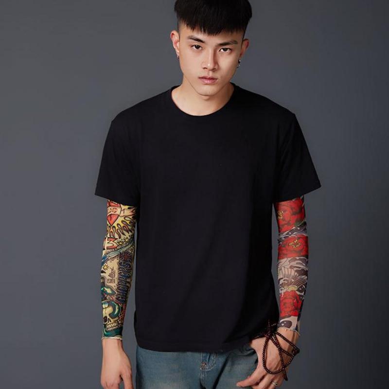 Anti Sunshine Fashion Men And Women Tattoo Arm Leg Sleeves High Elastic Nylon Halloween Party Dance Party Tattoo Sleeve 1pcs