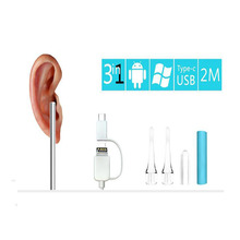 3-in-1 Ear Cleaning Endoscope HD Visual Spoon Camera 5.5mm Health USB Medical Tool For Android