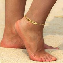 Summer Beach Custom Name Digital Anklet for Fashion Women Jewelry(China)