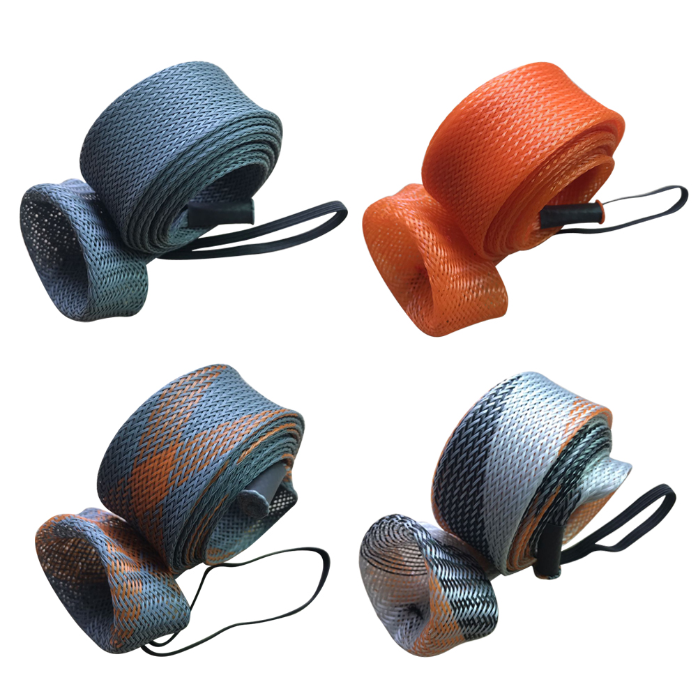 Плетеная сетчатая накидка на удочку, чехол для кастинга, подходит для рыболовных удилищ 6-7-2 дюймов, с золотистым наконечником, защитная сумк...