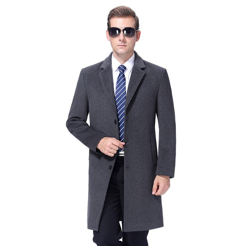 2020 Men Wool Coat Winter Warm Woolen Long Coat Autumn Mens Overcoat  Cashmere Coat Peacoat Wool Blend Long Jacket Korea Style Wool & Blends  -  AliExpress