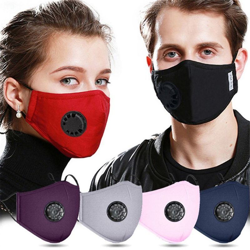 Dust Mask -sports Mask, Anti-pollution Anti-smog PM2.5 Washable Reusable Face Masks For Riding (with 2 Filters)