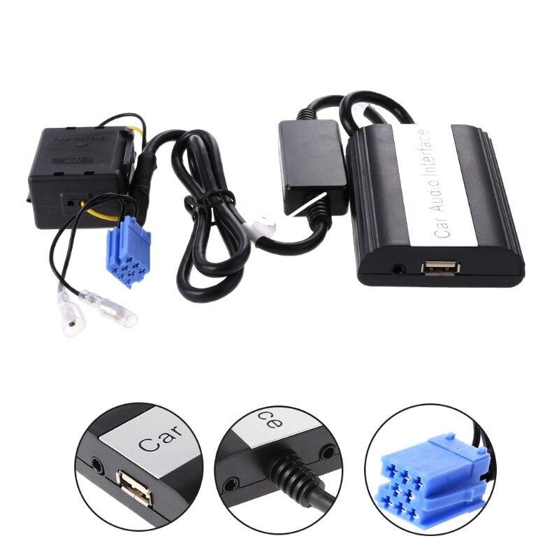 Nouveau kit mains libres Bluetooth voiture MP3 USB musique sans fil adaptateur AUX 8 broches Interface pour Renault Megane Clio scénic Laguna qyh