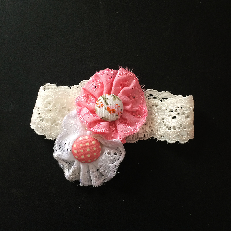 1 Pcs/lot Kawaii Button Design Elastic Girl Headbands Chidren Ribbon Hairband Hair Accessories