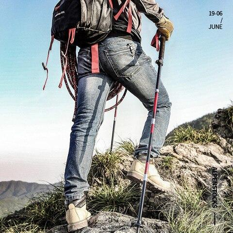 montanha trekking dobravel de cinco secoes escalada vara