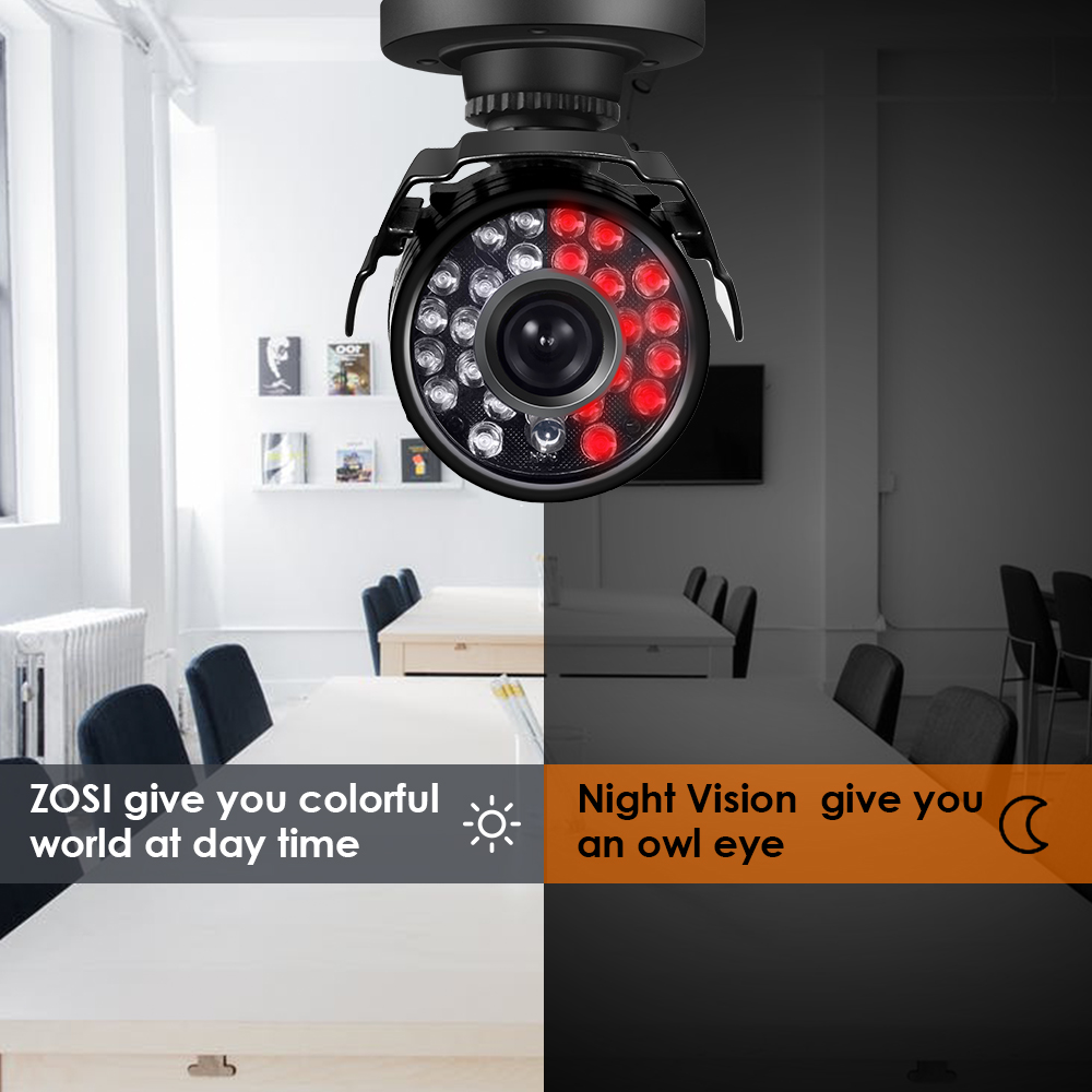 Image 5 - ZOSI 720P 1MP TVI/AHD/CVI/Analog CCTV Nightvision Motion Sensor Waterproof Bullet Camera-in Surveillance Cameras from Security & Protection