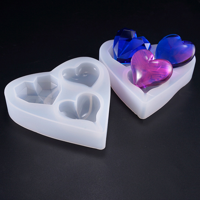 New Kinds Of Heart Shaped Silicone Resin Epoxy Mold Jewelry Accessories Handcraft Molds Jewelry Tools