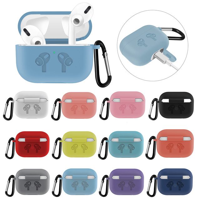 Silicone Case with Anti Lost Buckle for AirPods Pro 5