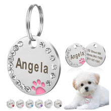 1PC Anti-lost Dog Engraved Pet Dog Collar Accessories Personalized Cat Puppy ID Tag Stainless Steel Paw Name Tags Pendant(China)