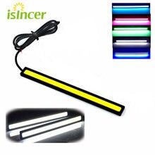 1 Uds 17cm Universal luz diurna coche COB DRL Luz de tira LED luces exteriores Auto impermeable estilo de coche lámpara Led DRL