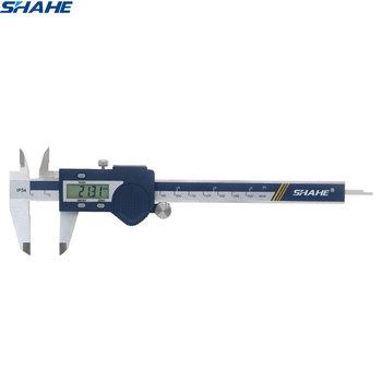 SHAHE nowa hartowana stal nierdzewna 0-150mm suwmiarka cyfrowa suwmiarki mikrometr elektroniczny suwmiarka pomiarowa tanie i dobre opinie Obróbka metali STAINLESS STEEL 0 03mm Cyfrowy Suwmiarki 5112-150 0 01 mm 0 0005 inch IP 54 waterproof Four way measurement (OD ID Step Depth)