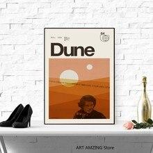 DUNE inspiré impression minimaliste Helvetica toile affiche milieu du siècle moderne mur Art photos corail suisse Arrakis décoration de la maison
