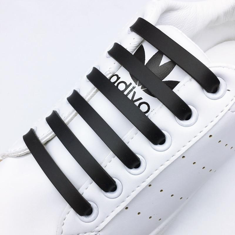 12pcs/lot Silicone Shoelaces Elastic Shoe Laces Special No Tie Shoelace For Men Women Lacing Rubber Zapatillas Z012