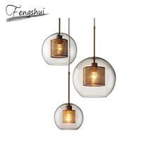 Nordic Glass Pendant Lights Lamp LED Pendant Lighting Living Room Dining Room Kitchen Cafe Bedroom Loft Home Deco Hanging Lamp nordic led pendant lights for dining room bar bedroom living room kitchen creative art deco hanging pendant lamp retro cafe loft