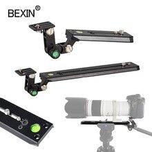 """Dslr plaque de dégagement rapide téléobjectif support 50mm largeur trépied plaque caméra montage adaptateur pour lappareil photo avec 1/4 """"3/8"""" vis"""