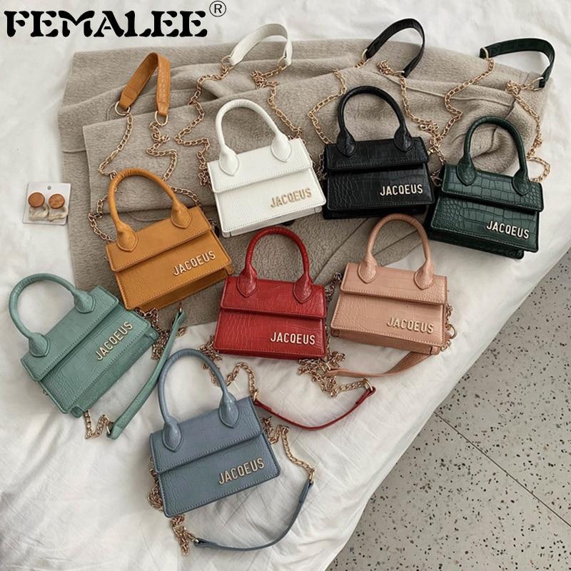 Small Stone Pattern Crossbody Bags For Women Lady Hand Bag Chain Designer Mini Handbags Luxury Crocodile Shoulder Messenger Bags