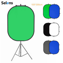 Selens 150x200cm 2 in 1 Backdrop Cloth + Magnetic Reflector Holder Studio Screen Photography Background For YouTube Video Studio