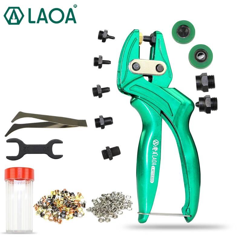 LAOA多機能レザーパンチプライヤーアルミ合金アイレットパンチャーベルトパンチボタンプライヤー台湾製