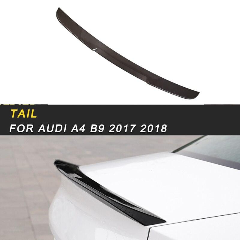 Автомобильный Стайлинг задний багажник спойлер для губ хвост крыло накладка рамка наклейка внешние аксессуары для Audi A4 S4 B9 2017 2018