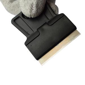 Image 3 - 5 pcs Mini Mão Raspador De Barbear com Lâminas de Aço Carbono de Idade filme de Vidro Cola Removendo Faca Móvel Tablet Telefone Limpador de Tela 5E18