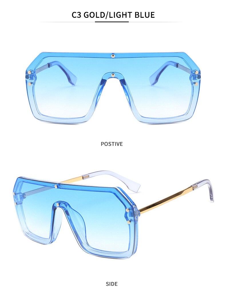 Luxury Brand Women's Sunglasses 2021 Trend One-Piece Lens Rimless Sunglass Female Designer Retro Sun Glasses For Women Gradient (9)