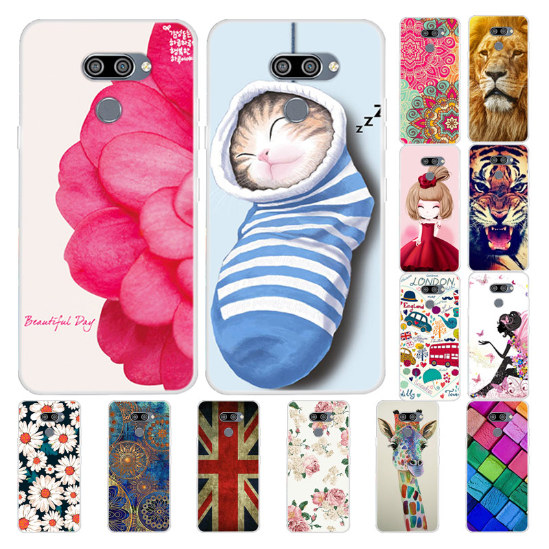 For LG Q60 Case Flower TPU Soft Silicone Phone Cover For LG Q70 Cases Cute Coque For LG K50S Case For LG K50 Case Back Protector