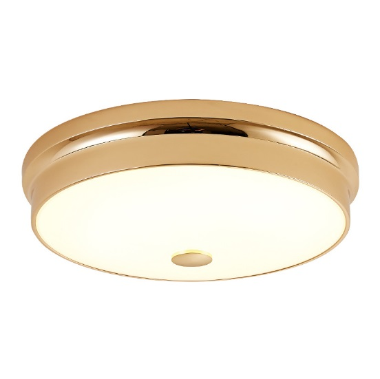 Golden round crystal ceiling lamp LED wrought iron bedroom lamps modern minimalist corridor aisle lighting balcony lights