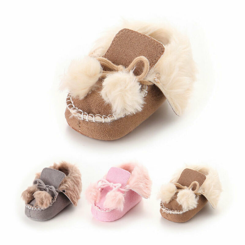 Baby Girl Boy Snow Boots Winter Booties Infant Toddler Newborn Crib Shoes 0-1Y