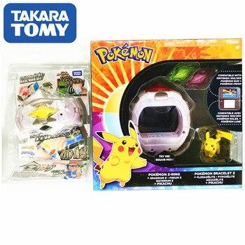 TAKARA TOMY Pokemon Action Figure Model Sun Moon Game Linkage 4D Somatosensory Z Bracelet Z Crystal Kids Christmas Gift Toys