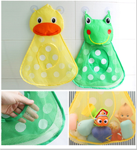 Baby Toy Duck Mesh Bag Bath Bathtub Doll Organizer Suction Bathroom Bath Toy Stuff Net Baby Kids Toy Bath Game Bag Kids