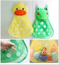 Sac en filet de jouet pour bébé, sac en filet de canard, sac de rangement de poupée de bain, ventouse, filet de jouet de bain, sac de jeu de bain pour enfants