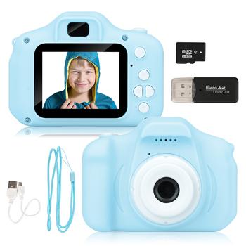 Nowy przyjeżdża tanie akumulatory fotograficzne kamery wideo zabawki dla dzieci dla dziewczynki 32GB Mini aparat dziecięcy prezent urodzinowy dla dzieci tanie i dobre opinie Z tworzywa sztucznego CN (pochodzenie) 3 lat Included Unisex GWQ00001-Green Aparat cyfrowy If any questions please cotact us