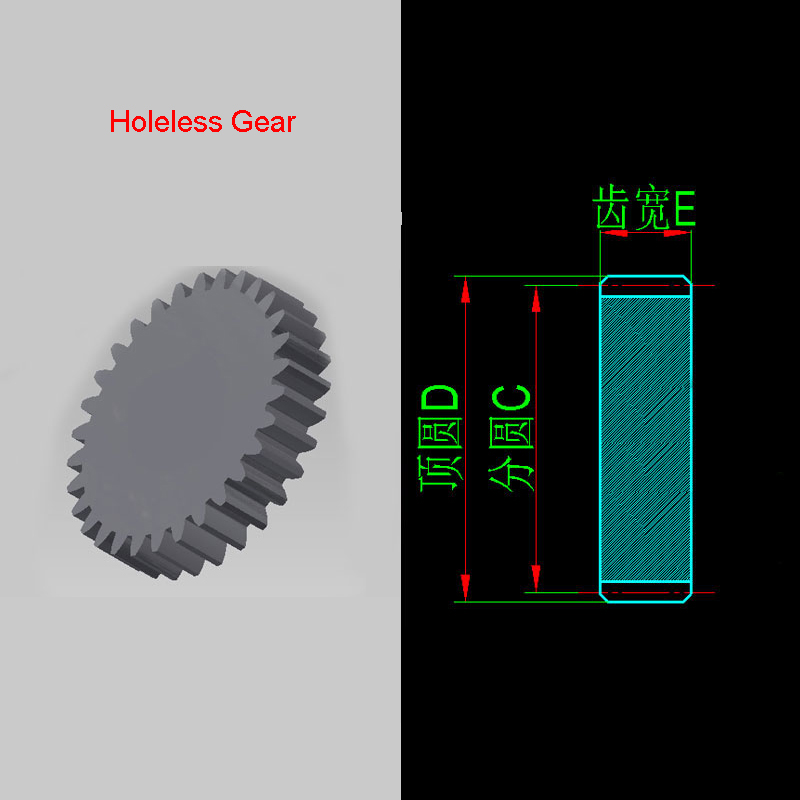 0.6 Modulus No Bore Gear Pinion Holeless Ring Gear Teeth 10/12/13/14/15/16/17/18/19/20-30 Carbon Steel Quantity 2PCS
