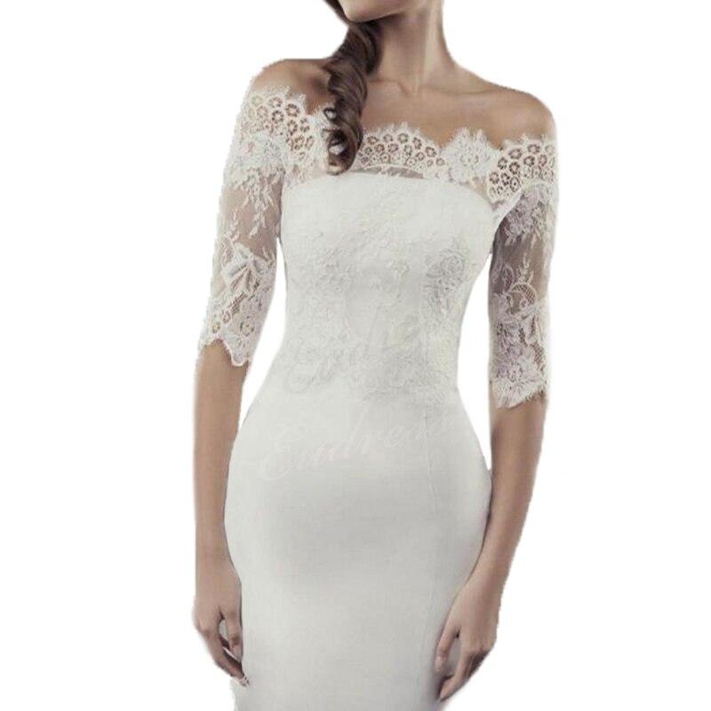White Lace Wedding Bolero Jackets Wrap Top Off The Shoulder Custom Size Lace Bolero Jacket Wrap Shawl