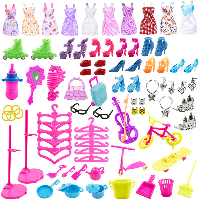 Аксессуары для кукол, 88 предметов/комплект