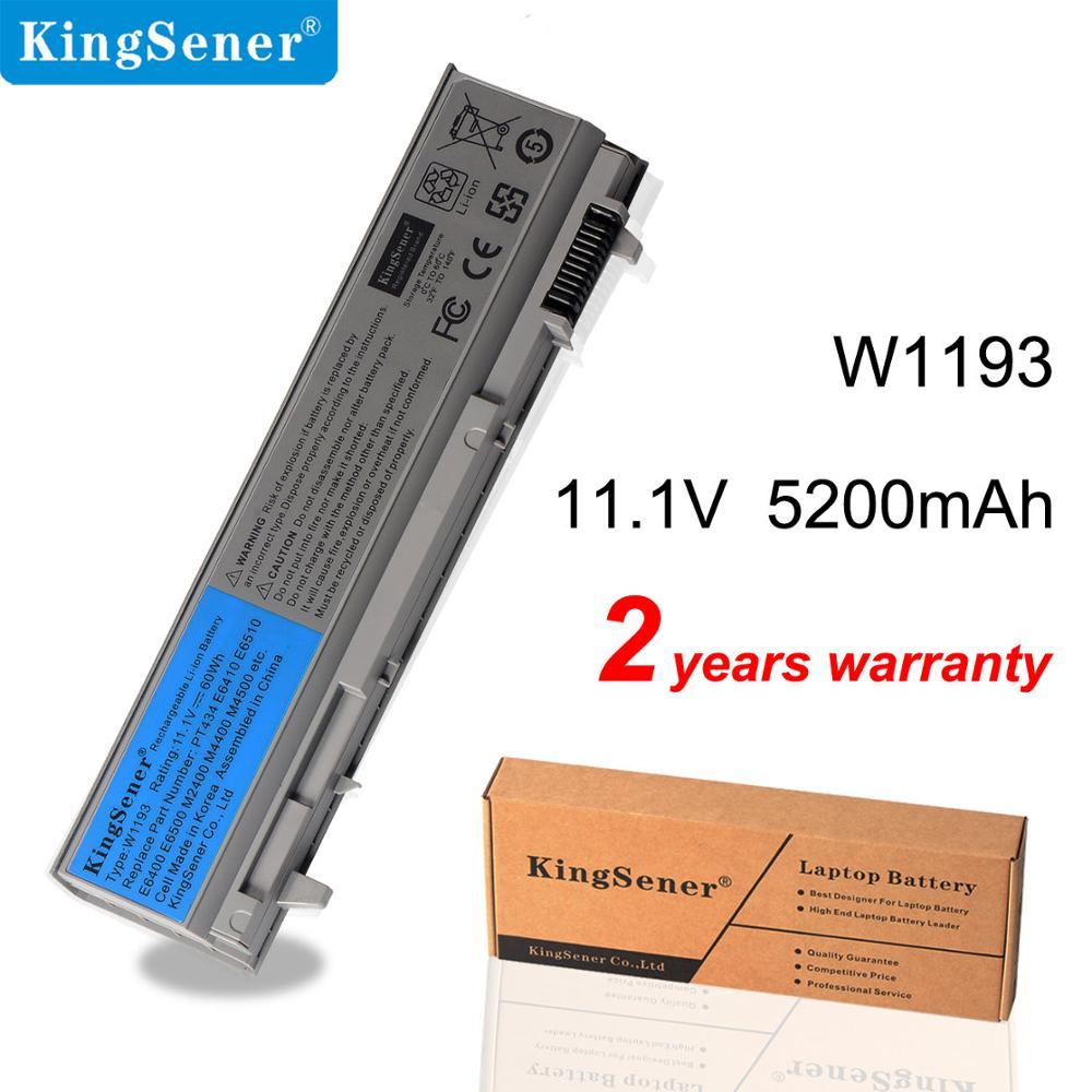 Аккумулятор KingSener W1193 для ноутбука DELL Latitude E6400 E6410 E6500 E6510 KY265 KY266 KY268 M4400 M6400 PT434 PT436 PT437 5200 мАч